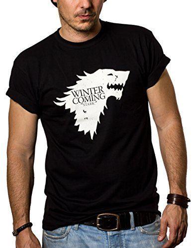 Camisetas Negras Hombre - WINTER IS COMING - Juego de Tronos XXL