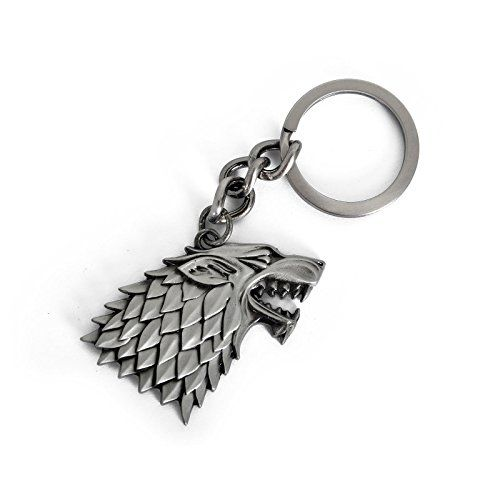 Juego de Tronos Stark House Crest Metal llavero