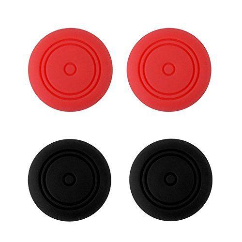Protectores para joysticks de Nintendo Switch Joy-4 unidades (2x Rojo 2x Negro)