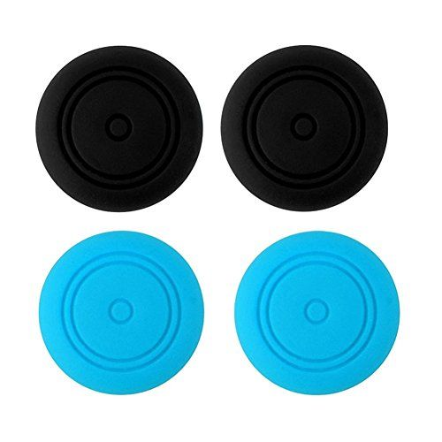 Protectores para joysticks de Nintendo Switch Joy-4 unidades (2x Negro 2x Azul)