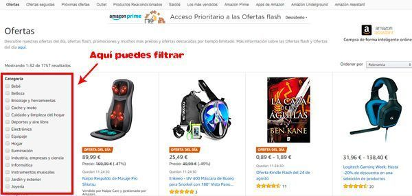 cómo encontrar ofertas en amazon