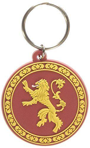 Pyramid International - Llavero De Caucho Del Emblema De La Casa Lannister De Juego De Tronos