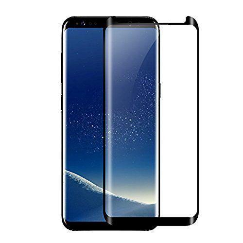 Protector de pantalla de cristal templado para Samsung Galaxy S8 (Negro)