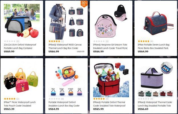 ofertas bolsos porta alimentos banggood
