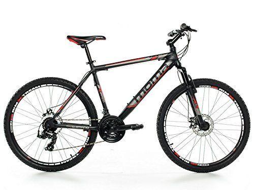 """Moma - Bicicleta Montaña Mountainbike 26"""" BTT SHIMANO, aluminio, doble disco y suspensión, XL (1,80-1,95m)"""