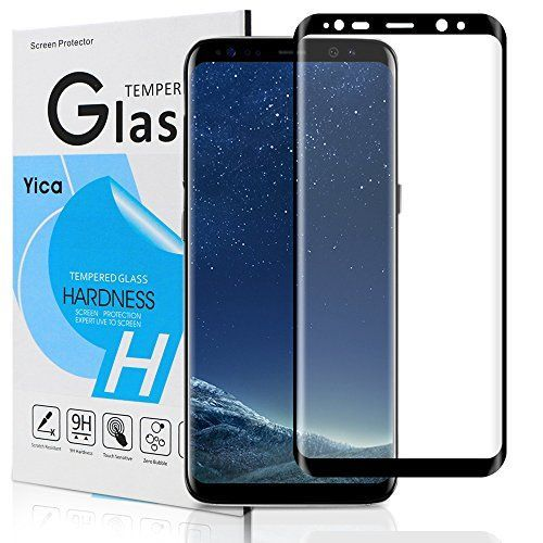 Protector de pantalla Yica de cristal templado para Galaxy S8 Plus - Negro