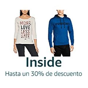 ¡Hasta un 30% en ropa Inside en Amazon!