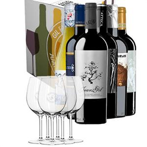 Pack Vinos Juan Gil (6 vinos + 6 copas) ¡Sólo 49,90€!