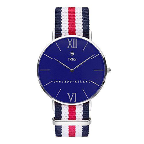 Reloj TWIG Haring Plata/Azul hombre/mujer