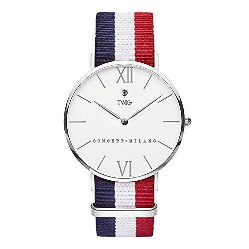 Reloj TWIG Haring Plata/Blanco Navy-Blanco-Rojo