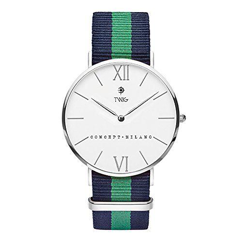 Reloj TWIG Haring Plata/Blanco Navy-Verde