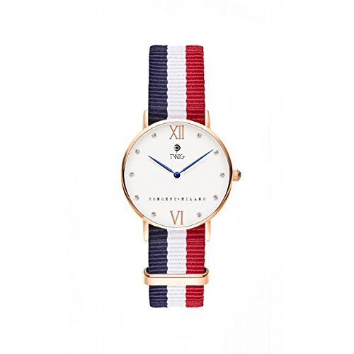 Reloj TWIG Kline Oro Rosa/Blanco Navy-Blanco-Rojo