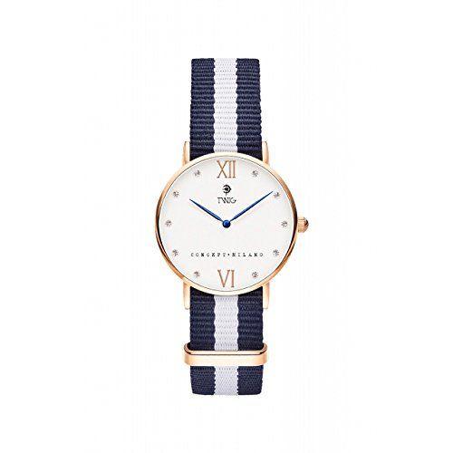 Reloj TWIG Kline Oro Rosa/Blanco Navy-White