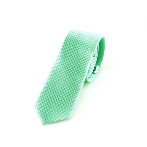 Corbata estrecha de 5cm de color verde menta