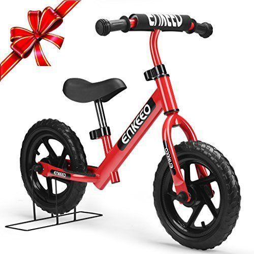 Enkeeo - Bicicleta sin Pedales (Rojo)