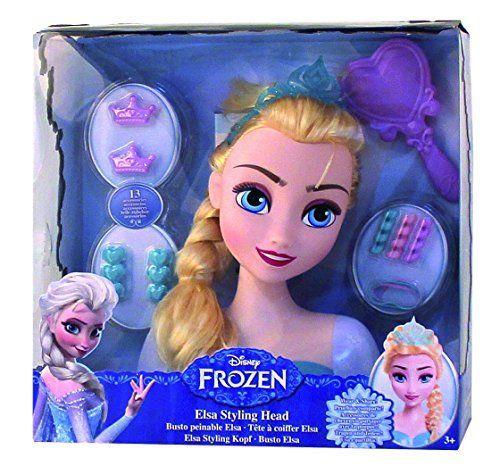 Frozen - Busto peinable de Elsa con accesorios