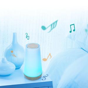 ¡Oferta flash! Lámpara de noche con altavoz Bluetooth por sólo 15,37€