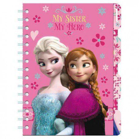 Libreta con 5 marcadores Elsa y Anna Frozen