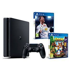 PS4 Slim (1TB) + FIFA 18 + Crash Bandicoot N.Sane Trilogy