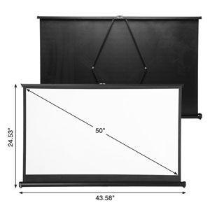Pantalla de proyección con base ExquizOn de 50″ por 37,79€