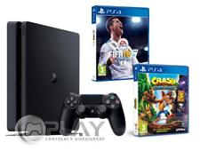 PS4 Slim 1Tb Consola - Pack 2 Juegos - FIFA 18 + Crash Bandicoot N.Sane Trilogy