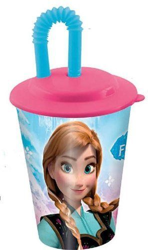 Vaso con pajita de Frozen