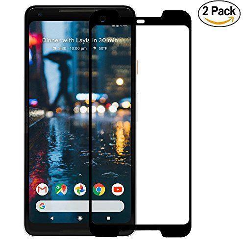 [2 Pack] Protector de Pantalla Google Pixel 2 XL , [Cubierta completa] Ferlinso Vidrio templado Screen Protector con garantía de reemplazo de por vida para Google Pixel 2 XL (Negro)
