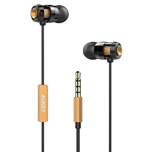 Aukey® EP-C2 Auriculares in-ear estéreo con micrófono, para reproductor MP3, Smartphones, iPod, etc