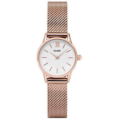 Cluse Reloj Digital de Cuarzo Unisex con Correa de Acero Inoxidable – CL50006