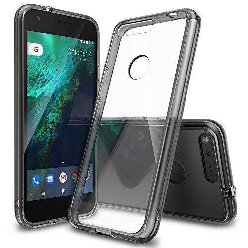 Funda Google Pixel XL, Ringke [FUSION] Crystal Clear Volver PC TPU de Parachoques [Gota de Protección / Choque Tecnología de la Absorción] Criado Biseles de la Funda Protectora para Google Pixel XL 2016 - Smoke Black