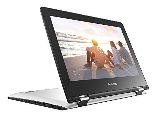 "Lenovo Yoga 300-11IBR - Ordenador portátil táctil convertible de 11.6"" HD (Intel Celeron N3060, RAM de 4 GB, HDD de 500 GB, Intel HD Graphics 400, Windows 10 Home 64 bit), blanco nieve"