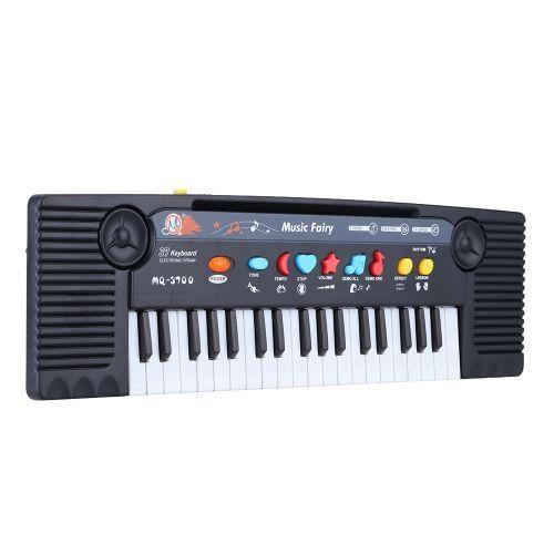 Mini teclado eléctrico multifunción con 37 teclas y micrófono