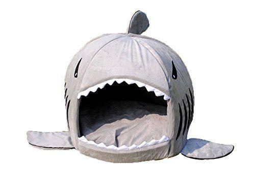 NingTeng cama de tiburón para mascotas