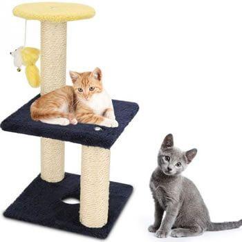 Árbol rascador para gatos 2 pisos en Aliexpress