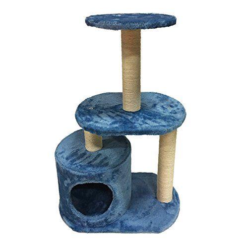 Rascador árbol para gatos con casita y cama (75 x 50 x 30 cm)