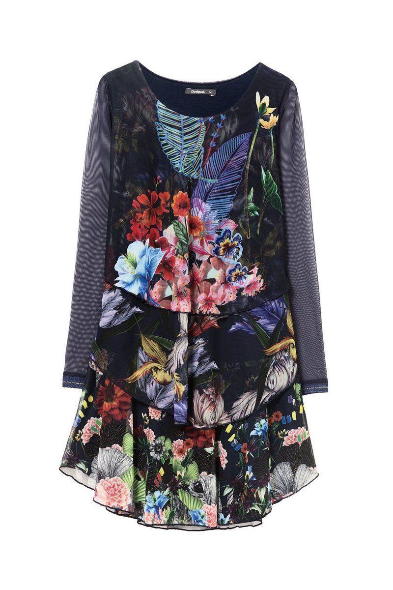 Desigual - Mujer - Vestido vaporoso para mujer - Lidia - Lidia - Size XS
