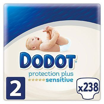 238 pañales Dodot Protection Plus Sensitive por solo 38€
