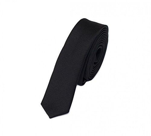 Estrecho Corbata de Fabio Farini en negro 3cm Ancho