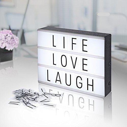 Lightbox A4, AGM LED caja de luz cinematográfica luz cálida con letras, números, símbolos, emojis