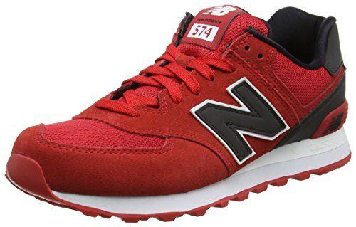 New Balance 574 Reflective, Zapatillas Hombre, Rojo (Red), 42 EU