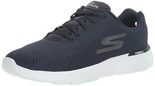 Skechers Go Run 400, Zapatillas de Deporte para Exterior Hombre, Azul (Navy), 43 EU