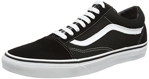 Vans Old Skool Zapatillas Unisex, Negro (Black/White), 43