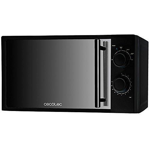 Cecotec 01367 Microondas All Black, input 1200 W, output 700 W, 20 l, 6 niveles, con frontal de espejo, negro