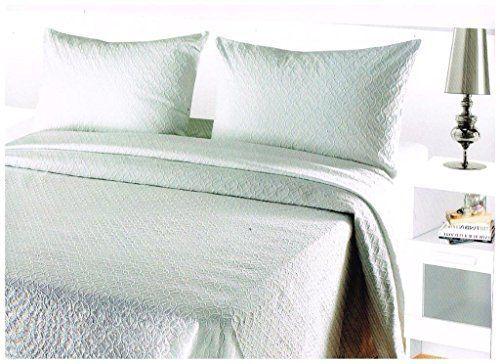 COLCHA FINA BLANCA fácil lavado. mod. Vitoria. Varias medidas.250x270 (cama de 150 cm)