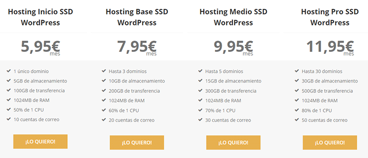 oferta hosting raiola