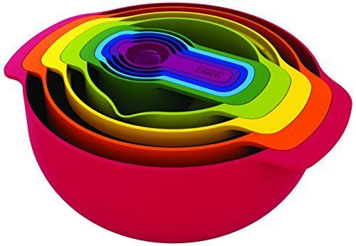 Joseph Joseph tazas medidoras, 9 unidades, Multicolor, plástico, Rojo, 26x32.5x15 cm