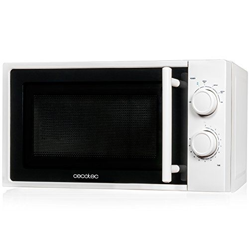 Microondas blanco, input 1200W, output 700W, 20 l, 6 niveles, Cecotec White