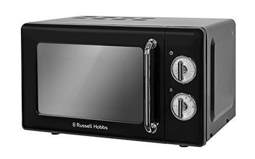 Russell Hobbs microondas simple de 17 litros, retro, RHRETMM705B (negro)