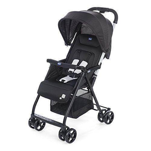 Chicco Ohlala - Silla de paseo ultraligera y compacta, 3,8 kg, color negro