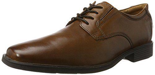 Clarks Tilden Plain, Zapatos de Cordones Derby Para Hombre